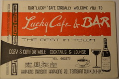 Lucky Cafe and Bar (m20wc51) Tags: bar hongkong card kowloon wanchai