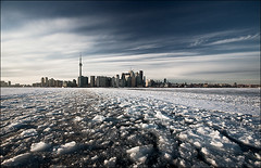 toronto_island-ferry_ice-chunks_wide_01 (daily dose of imagery - archive) Tags: city winter lake snow toronto ontario canada cold ice island downtown shift can tilt ts wvs ddoi dailydoseofimagery tiltshift samjavanrouh ts24 javanrouh ddoi2009