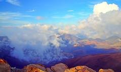 Haleakala National Park, Maui island, Hawaii (Sergii Kyrychenko) Tags: park blue sunset sky white mountains yellow clouds hawaii maui national haleakala valley hi