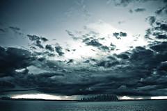 Ominous (Jo_Da_Cu) Tags: park sunset sky lake canada clouds island ominous national alberta elk elkislandnationalpark astotin astotinlake