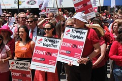 DSCF2273.jpg (Leo in Canberra) Tags: rally protest australia demonstration canberra act wearred countonme joinnow cpsu strongertogether garemaplace proudtobeunion 6november2014 rallytosafeguardyourrightspayandconditions
