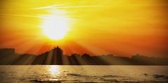 tramonto - sunset (pepe50) Tags: sunset tramonto italy emiliaromagna pepe50 leisure party 2014 flickr gabiccemare sea adriaticsea beach sun contraluz canon italia hotel bestshot2014