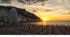 5 luglio 2016 - Vieste - Alba Sul Litorale (Andrea di Florio (Thanks for 6,000,000 views)) Tags: panorama landscape nikon mare estate alba 28 sole puglia spiaggia vacanza d600 foggia 2470 viste andreadiflorio