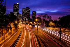 Traffic Trails (Grumpysumpy) Tags: australia city clouds dusk fujixt1 light night road sydney sky travel traffictrails traffic xt1 1655mm fujifilm