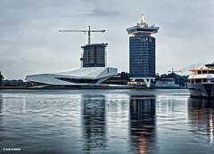 Amsterdam. (alamsterdam) Tags: amsterdam adamtower fimmuseum earlymorning reflections longexposure