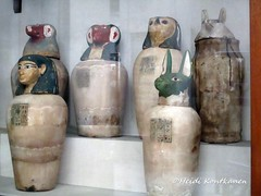 Canopic Jars (konde) Tags: canopic jar ancientegypt hieroglyphs sonsofhorus cairomuseum
