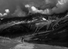 Cloudy montain road (anthony.vairos) Tags: blackandwhite road montain montblanc montagne cloud cloudy noiretblanc snow photographie photography photo landscape paysage hautesavoie france beautiful nikkor70200mmf4 nikon d750 fullframe light lightroom photoshop pleinformat zoom highiso holiday shadows bw