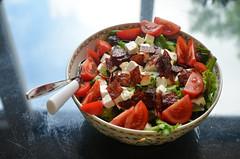 More food (-Kj.) Tags: dinner salad chorizo tomato saladbowl faence faenceriedegien toscana