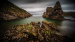 Dead Calm (Augmented Reality Images (Getty Contributor)) Tags: canon clouds coastline hightide landscape leefilters longexposure morayshire pebbles portknockie rocks scotland seascape submerged water