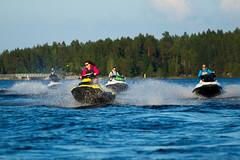 Women driving jet skis (VisitLakeland) Tags: vesijetti jet ski water lake jrvi kallavesi seikkailukuopio adventure summer seikkailu finland kuopio
