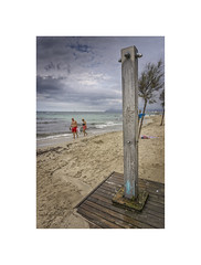 Weather Forecast - Approaching Showers.... (silver/halide) Tags: beach shower showers weather seashore seafront sand mediterranean sonyalpha a6000 johnbaker summer pun