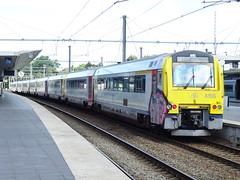 NMBS/SNCB 4155 @ Brugge (Sim0nTrains Photos) Tags: nmbssncb nmbs sncb class41 dmu dieselmultipleunit bruggerailwaystation bruggestation alstom belgiannationalrailways 4155
