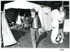 Elu telklas / Tent life (National Archives of Estonia) Tags: tents suave lovely youngsters soviet 1988 malev em buildingbrigades doublebass jaanrebane nationalarchivesofestonia