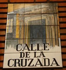 Azulejo de la calle de la Cruzada. Madrid (Carlos Vias-Valle) Tags: azulejo calledelacruzada