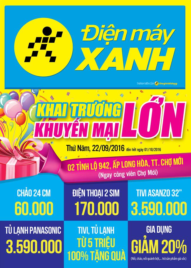 Khai trương siêu thị Điện máy XANH Chợ Mới, An Giang