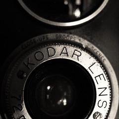 Square 1 (Rand Luv'n Life) Tags: odc our daily challenge vintage camera lense monochrome blackandwhite macro kodar lens reflections square aspect ratio