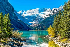 Lake Louise (R. Kent Squires) Tags: lakelouise banffnationalpark albertacanada lake water mountains canadianrockies snow glacialflour