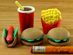 Erasers (arbyreed) Tags: arbyreed ppep macromondays close closeup macro pencil chewedpencil erasers fast food cute