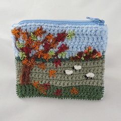 emb purses 1 5 (Lynwoodcrafts) Tags: purse embroidery embroidered autumn sheep leavescrochet coin