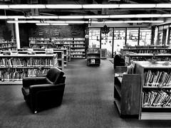 Reading Room (Dennis Sparks) Tags: byronbranchlibrary iphone blackwhite books readingroom library ontario london byron londonpubliclibrary
