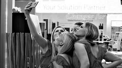 Selfie (Pavel Jursek) Tags: black white bw blackdiamond photography photographie monochrom femme human giirls public pb moments blackwhite street moment steetphoto impublic urban city sreetlite people photo picture pics image flickr monotone mono