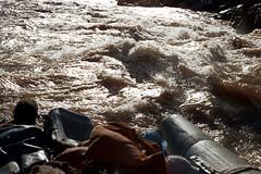 34-652 (ndpa / s. lundeen, archivist) Tags: nick dewolf nickdewolf color photographbynickdewolf 1970s 1973 film 35mm 34 reel34 arizona northernarizona southwesternunitedstates grandcanyon coloradoriver raftingtrip raftingexpedition water river canyon raft inflatable sanderson sandersonraftingexpeditions srig rapids whitewater people 1972 sandersonriverexpeditions
