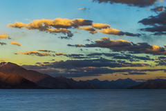 passage of time (dr_zook81) Tags: lake mountains snow peak peaks cloud clouds water sky sunset evening color clours colors orange blue yellow red landscape nature outdoors wide beautiful light range altitude leh ladakh pangong tso india mountain outdoor divine heaven beauty wonder canon 6d