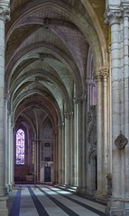 No People (haberlea) Tags: france tours touraine saintgatiencathedral church cathedral architecture loirevalley ambulatory gothic medieval middleages interior stgatien hdr
