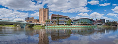 Adelaide, South Australia (Anthony's Olympus Adventures) Tags: adelaide adelaidecbd southaustralia sa australia cityscape cityview citycenter citycentre city downtown torrens rivertorrens panorama panoramic sky riverfront river water torrensriver nice afternoon weather public raw