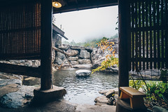 Our Onsen Hotel in the Japanese Alps (Todd Danger Farr) Tags: japan onsen asia yarimikan hotel outdoors hotspring bath water fog