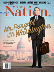 Mr. Fiengold goes back to Washington. The Nation / September 26-10, 2016 (rbest90) Tags: thenation magazine design editorial russfeingold politics suitcase snowden hillaryclinton washington