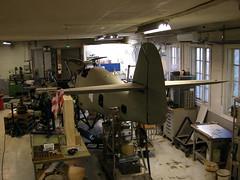 Me109 G2  WrkNr 14055  NI + BY (flyhistorie) Tags: messerschmitt jg5 aviationmuseum sola flymuseum jærmuseet luftwaffe me109 bf109 vintage restoration workshop hangar airframe