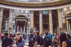 Rome - Pantheon Statue Niches 3 (Le Monde1) Tags: italy rome city eternal lemonde1 nikon d610 vatican capitoline palatine tiber river roma stpeters sevenhills capital romancatholic pantheon statue niches inri ignenaturarenovaturintegra