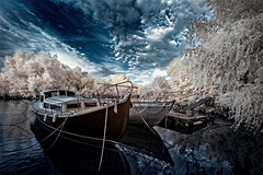 Baka (Piotr Jaworski) Tags: ir infrared podczerwien canon 350d efs 1022 r720 baka bateau bois loire pitrus