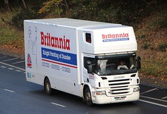 SCANIA P230 - BRITANNIA Knight Packing Dundee (scotrailm 63A) Tags: lorries trucks removals