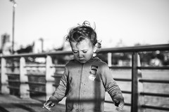 Fingers crossed. (Pablin79) Tags: portrait boy people street wind light coast urban black white child monochrome fun kid shadows lines childhood one outdoors argentina vicente misiones facial expression vini posadas dof