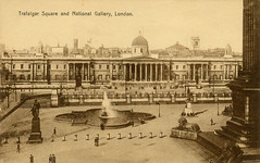 1905 London (Steenvoorde Leen - 2.3 ml views) Tags: londen london 1905 ansichtkaart postkaart postcards postkarte karte card trafalgsrsquare nationalgallery great britain gb england