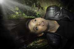 batgirl (Viktor Mezosi) Tags: portrait nature lights girl beautiful forest outdoor eyes hair makeup batgirl coombeabbey england