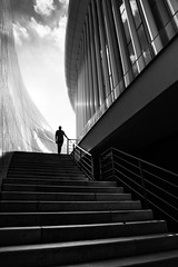 Explore (BWUA Photography) Tags: street black white silhouette stairs architecture