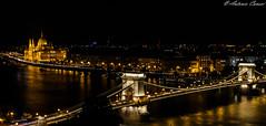 VIsta dal Castello di Budapest (antonio.canoci) Tags: budapest parlamento ponte delle catene 100d canon 1585usm panorama fiume danubio ungheria