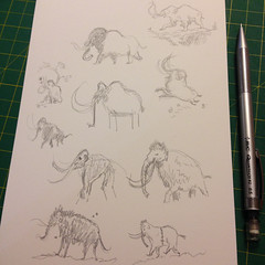 Illustration Friday: Ice sketches (tanaudel) Tags: illustrationfriday ice illustration drawing sketching mammoth mammoths iceage costumes