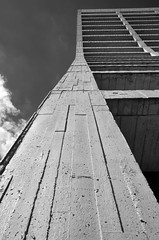 Skyward Inclinations (Michael J. Linden) Tags: monochrome bw blackandwhite architecture michaeljlinden michaellinden mikelinden n9bdf nikon d7000 nikond7000 ferminationalacceleratorlaboratory fermilab fnal departmentofenergy doe batavia highenergyphysics hep particleresearch nationallaboratory