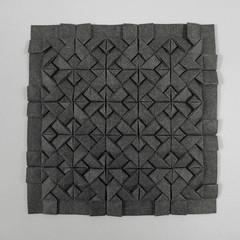 Square Interlace Tessellation (Michał Kosmulski) Tags: origami tessellation weave knot pinwheel windmill interlace elephanthidepaper michałkosmulski grey gray graphite tess