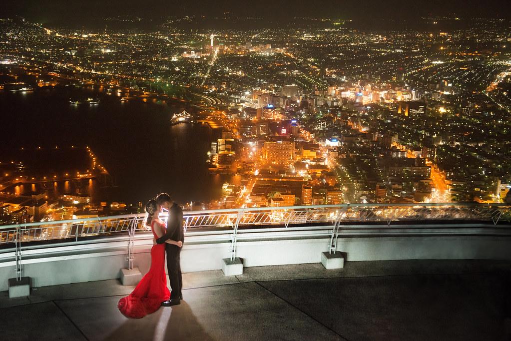 日本北海道婚紗,函館婚紗,函館山婚紗,世界三大夜景,夜景婚紗,海外婚紗
