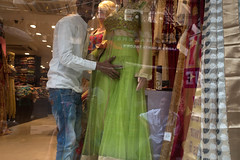 CALC_5825 Moving the Mannequin (rose.vandepitte) Tags: india kolkata shop window windowdisplay mannequin nikond750 35mmlens streetphotography street streetlevelphotography