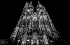 Cologne Cathedral B/W (mcalma68) Tags: koln blackwhite monochrome germany nightphotography cathedral dom