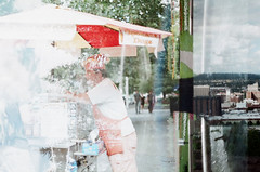 47800012 (amiaphotos) Tags: fujifilm fujicolorsuperia fujicolorsuperiaxtra400 doubleexposure 35mm film shootfilm analog abstract amiaphotos amiaart spokaneartscene canon canonf1 slr vintagecamera spokane outdoor spokanedogs hotdog manitopark tripleexposure fountain