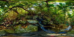 Tory's Den Falls, North Carolina (orebrandonm) Tags: northcarolina waterfall nature 360degreepanorama ptgui canon5dsr hangingrock hangingrockstatepark
