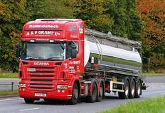 SCANIA R560 V8 - A & F GRANT Ballindalloch Morayshire (scotrailm 63A) Tags: lorries trucks tankers