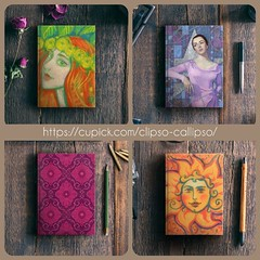 Notebooks by Clipso-Callipso on @cupick (clipso_callipso) Tags: cupick notebook notebooks journals sketchbooks artoninstagram clipsocallipso bookcover artforlife arteverywhere sun art painting portrait elizabeth taylor hollywood old ginger red hair haired head orange love beautiful girl woman actress star lavender pink yellow fantasy imagination floral flower flowers ruby indian shop shopping online printshop gift ideas giftideas original unique printed artprint india pattern damask arabesque